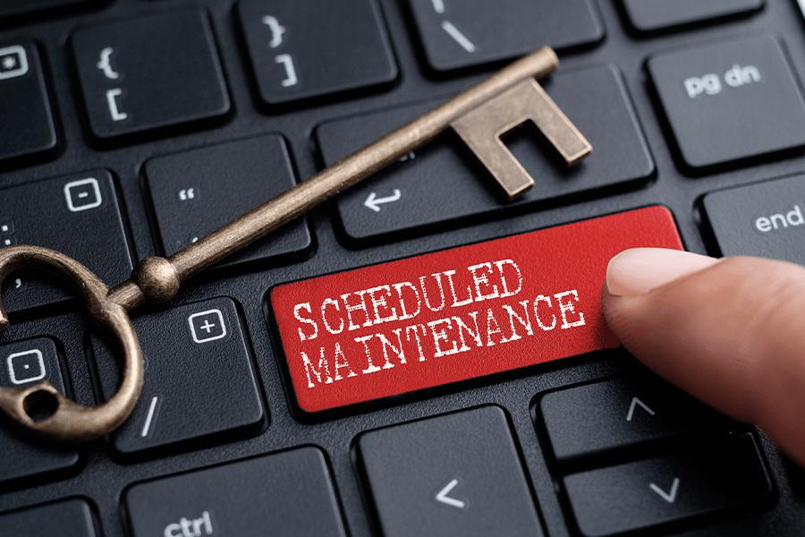 scheduled-maintence